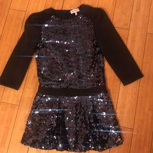 Juicy couture navy blue sequin dress
